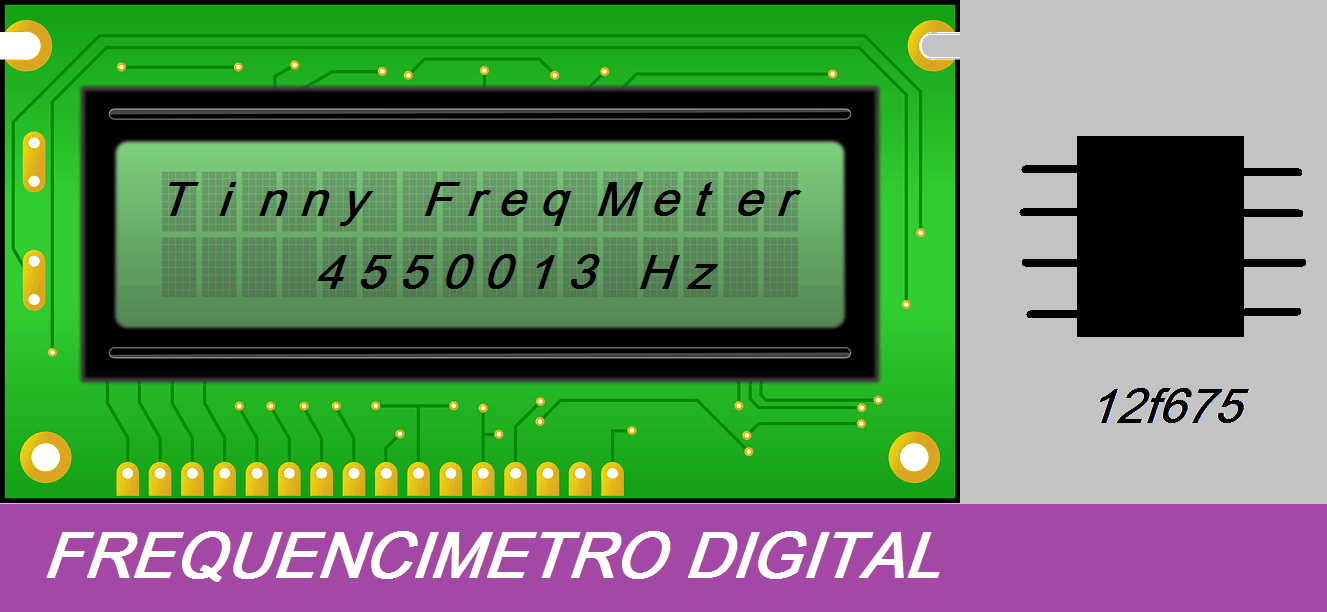 TINY_FREQUENCY_METER – FREQUENCÍMETRO  C/ PIC 12F675 (REF225)