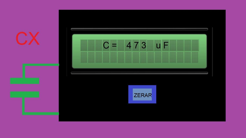 CAPACÍMETRO DIGITAL C/ ESCALAS AUTOMÁTICAS – C/ PIC 16F628A (REF314)