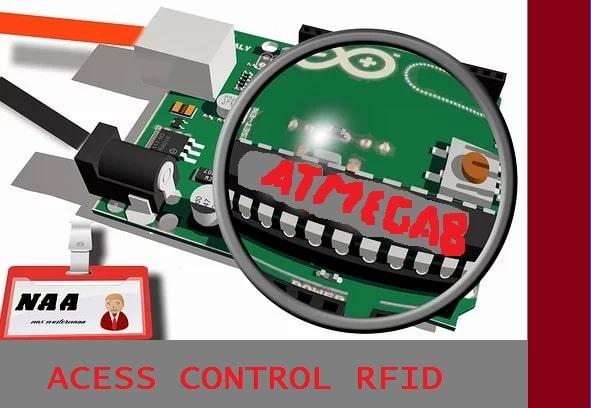 CONTROLE DE ACESSO – C/ ATMEGA8 E RFID-RC522 (REF331)