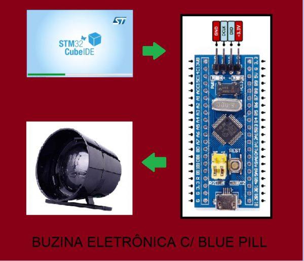 BUZINA ELETRÔNICA C/ BLUE PILL (REF366)